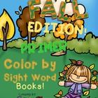 Create a book with this 12 Color by Sight Word pages using all the 52 Primer Dolch Sight Words.  A cover page for the book and a page with a list o...