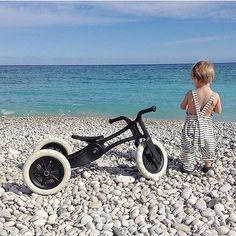 BEACH PLEASE. It's been raining all day here and I actually love it! But then I see a bright blue beach pic... and now all I want to be right there. Restocked on our 3-in-1 Bikes (free shipping) and ready for the next adventure.  @melinda.max  #designlifekids by designlifekids