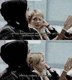 Blue Valentine - Ryan Gosling & Michelle Williams. Love this scene. Love this movie. Sad but beautiful.