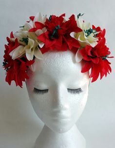 Items similar to War of the Roses Floral Headband on Etsy Floral Headbands, Clever, Trending Outfits, Roses, Unique Jewelry, Handmade Gifts, War, Store, People