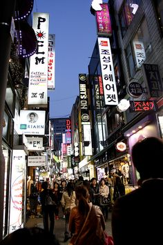 Wanderlust Wednesdays: Shopping at Myeongdong (Seoul, Korea) by ibyangbabe, via Flickr