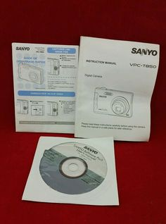 Sanyo VPC- T850 User Guide Instruction Manual CD Software Pack  | Computers/Tablets & Networking, Software, Other Computer Software | eBay!