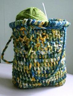 Love This! ... Bonne Bouche Drawstring Bag: free pattern