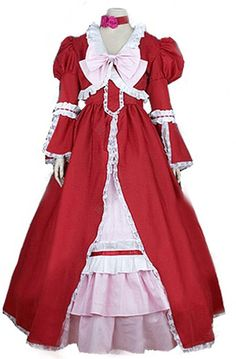 FOCUS-COSTUME Black Butler Elizabeth Midford Cosplay Costume >>> Want additional info? Click on the image.