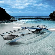 clear canoe. How awesome.