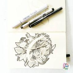Letter C #calligrafikas #grafikas #dreweuropeo #illustration #grafikaflora #moderncalligraphy #lettering #handlettering #brushlettering #lineart #penandink #grafikasalphabetseries Paper: Moleskine Sketchbook Pen: Copic Sketch, Copic Multiliner .25 &...