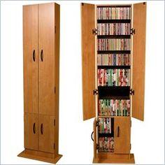 Venture Horizon Promo CD DVD Media Storage Cabinet - Black