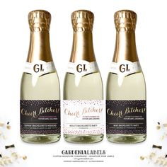 Personalised Edible Icing Champagne Bottle Label Cake Topper Free Neck Label