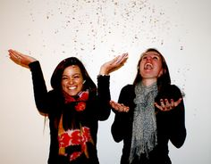 """Use glitter in photoshoots to create an """"indoor snow"""" effect!"""