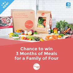 Enter Now for your chance to win 3 Months of Meals for a family of four from Chefs Plate!!! #CLB5