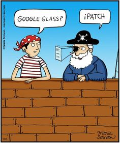 Everything is so high tech these days! Optometry Humor, Optometry Office, Eye Jokes, Tech Humor, Google Glass, Gambling Quotes, Puns, Make Me Smile, Pirates