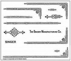 Singer Featherweight 221 Sewing Machine Early Style Restoration Decals for sale online Sewing Machine Drawers, Sewing Machines, Haberdashery Shop, Featherweight Sewing Machine, Antique Restoration, Vintage Sewing, Decals, Singer, Black