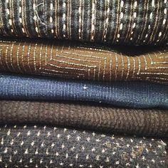 Beautiful Japanese vintage kimono fabrics/ #srithreads / Greenpoint Brooklyn  #indigo #vintagefabric #japanesevintage #tsumugi #kasuri #anzunewyork  #simplejoys #liveauthentic #saturdayvibes #relax #weekendlikethese
