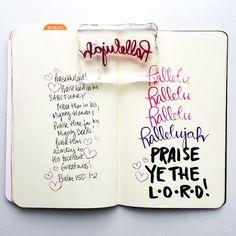 Bible Journaling Praise Ye the Lord - Hallelujah! Time Lapse video! Prayer Journal Faith Journal