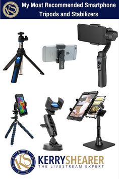 These are some of my most recommended tripod and stabilizer options for doing great looking livestreams and recorded videos with your smartphone!