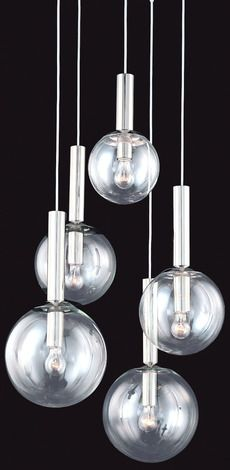 Bubbles 5 Light Pendant by Sonneman