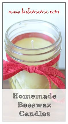 Homemade Beeswax Candles tutorial from www.kulamama.com.  A great hostess gift.