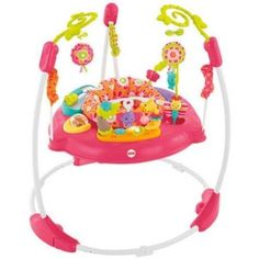 Fisher Price Pink Petals Jumperoo Music Lights Baby Toy Colorful Activities  #FisherPrice