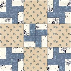 12-5 Illinois Road. Illinois Road was released by Nancy Cabot in her syndicated columns in 1933.Two years later, she released an almost identical block, also called Illinois Road, but with the Two by Two pinwheel block pieced from squares: