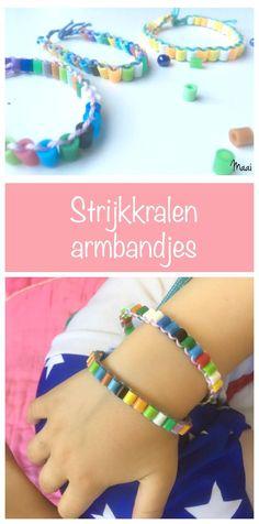 Strijkkralen armbandjes maken - hamabeads - knutselen met kinderen