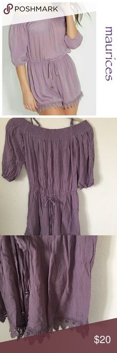 Maurices Lilac Romper Brand new with tags Size Small Maurices Dresses