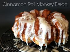 Cinnamon Roll Monkey Bread...it's Sunday Morning Breakfast for the girls this week!!