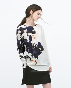 FLORAL PRINTED T-SHIRT from Zara