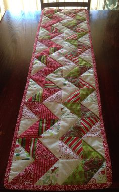 Chevron Quilted Christmas Table Runner  FREE by davignon86 on Etsy, $33.00
