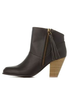 New Women Qupid Sake-35 Woven Leatherette Chunky Heel Ankle Riding Bootie
