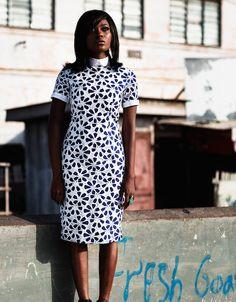 Efya, Ghana's neo soul sensation in KISUA, #Shop the Lace Pencil Dress on KISUA.com #OOTD #KISUAStyled