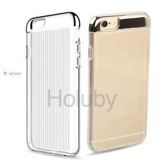 Moshuo Hybrid TPU + Electroplated PC Hard Case for iPhone 6/ 6S - Silver
