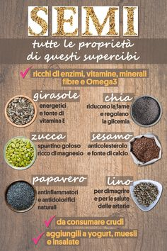 Tutte le proprietà di questi super cibi. I semi che ci fanno bene! Healthy Seeds, Healthy Life, Healthy Snacks, Healthy Eating, Health And Nutrition, Health And Wellness, Clean Eating For Beginners, Gym Food, Detox Recipes