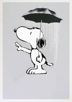 Black and white snoopy