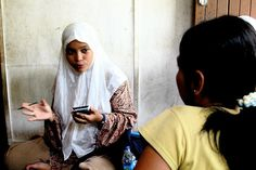 A health worker uses EpiSurveyor software on a handheld device to monitor and measles vaccination efforts in Aceh, Indonesia. [credit: DataDyne.org] pregnancy and childbirth pregnancy signs pregnancy websites pregnancy care pregnancy information healthy pregnancy all about pregnancy newborn care tips calculate due date