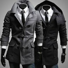 Slim Fit Fashion Toggle ool Coat by Sneak Outfitters around $65 dolars