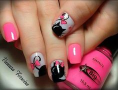 """Find and save images from the """"UÑAS"""" collection by Monica Victoria (MonicaVictoria) on We Heart It, your everyday app to get lost in what you love. Nails To Go, Love Nails, Kawaii Nails, Cat Nails, Cute Nail Art, Best Acrylic Nails, Nail Decorations, Cute Nail Designs, Nail Art Galleries"""