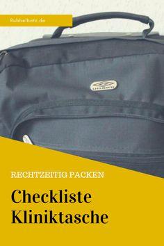 Rechtzeitig vor der Geburt sollte die Kliniktasche gepackt sein - das muss unbedingt rein: Checkliste.