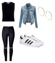 """""""On the block!"""" by romerokrisjoan on Polyvore featuring LE3NO, A.L.C., adidas and GUESS by Marciano"""