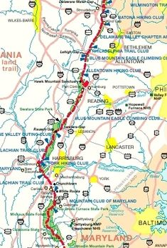 NJ Section Of The AT The Appalachian Trail Database Infon On - Appalachian trail shelters map