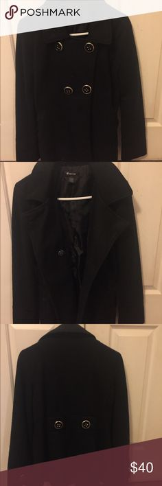 Black Women's Coat Black women's coat. 100% Polyester. Size: Large. In very good condition. Finesse Jackets & Coats