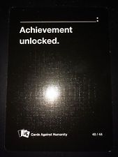 "Cards Against Humanity PAX Prime Card #40 of 44 (Black) ""[BLANK]: Achievement.."""