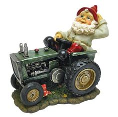 Plowing Pete on His Tractor Garden Gnome Statue.... Misty $40