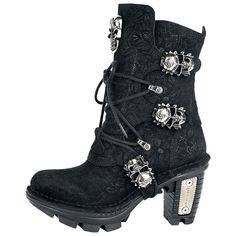 "Gothicana by EMP Boots, Women ""New Rock Skull Head"" black • EMP"