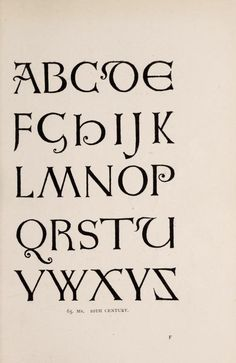 Alphabets old and new : for the use of the craftsmen : with an introductory essay on Àrt in the alphabet' : Day, Lewis F. (Lewis Foreman), 1845-1910 : Free Download, Borrow, and Streaming : Internet Archive Typography Fonts, Old And New, Letterpress, The Borrowers, Craftsman, Alphabet, Letters, Writing, Book Of Kells
