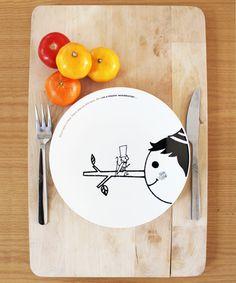 Pinocchio plate by Shinzi Katoh
