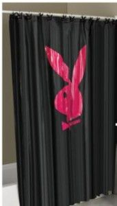 Playboy Bunny shower curtain.. OMG!!! Too cute!! I neeeed this!!!