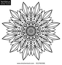 Lovely Mandala'in Stok Fotoğraf ve Görsel Koleksiyonu Mandala Tattoo Design, Mandala Drawing, Mandala Art, Zentangle Patterns, Mandala Pattern, Embroidery Patterns, Mandala Coloring Pages, Coloring Book Pages, Motif Oriental