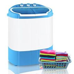Shop for Portable Washing Machines in Washing Machines. Buy products such as ZENY Mini Twin Tub Portable Compact Washing Machine Washer Spin Dry Cycle- Capacity at Walmart and save. Portable Washer And Dryer, Compact Washer And Dryer, Compact Laundry, Mini Washing Machine, Washing Machines, Spin Dryers, Washer Machine, Laundry Room Storage, Frases