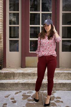 floral shirt and baseball hat featuring @Donna Maywald Navy @Soledad Calvino Society