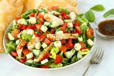Margherita Grilled Chicken Salad Recipe | Hungry Girl